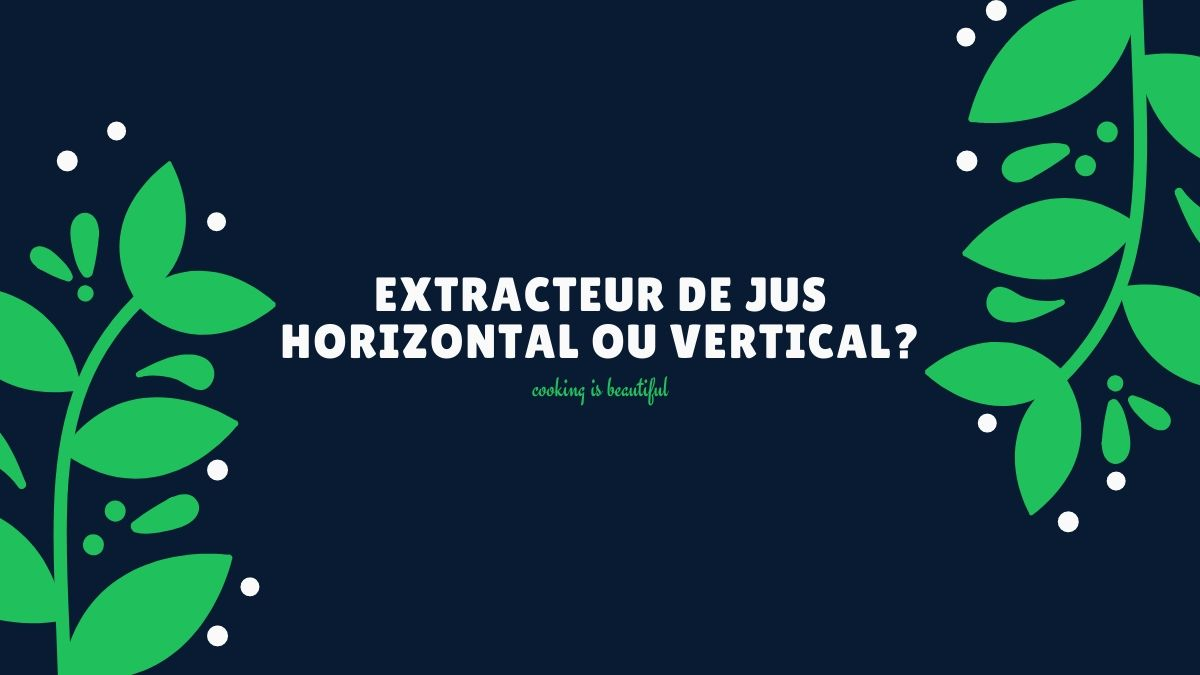 extracteur de jus horizontal ou vertical